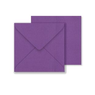 Lustre Print Square Envelopes - Pearlised Boysenberry