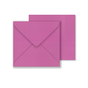 Lustre Print Square Envelopes - Pearlised Brilliant Rose