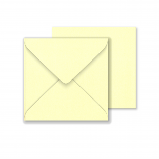 Lustre Print Square Envelopes - Pearlised Cream