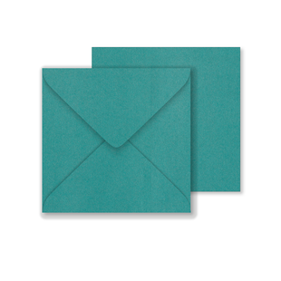 Lustre Print Square Envelopes - Pearlised Forest Green
