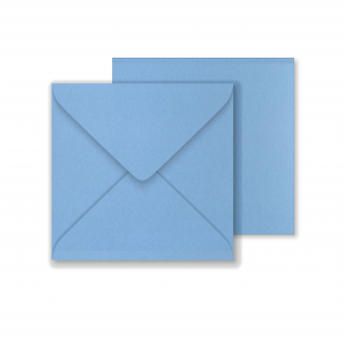 Lustre Print Square Envelopes - Pearlised Maya Blue