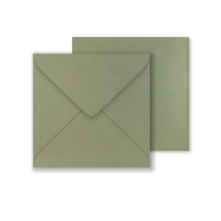 Lustre Print Square Envelopes - Pearlised Mercury