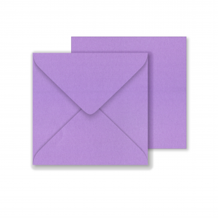 Lustre Print Square Envelopes - Pearlised Periwinkle