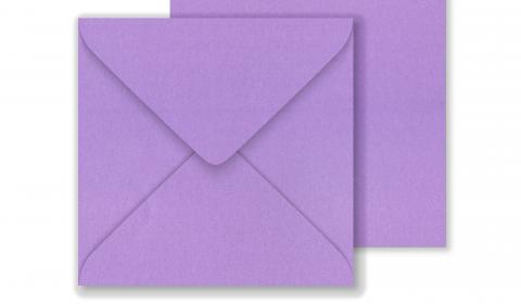 Lustre Print Square Envelopes - Pearlised Periwinkle