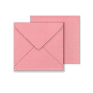 Lustre Print Square Envelopes - Pearlised Persian Pink