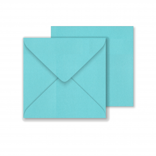 Lustre Print Square Envelopes - Pearlised Sea Blue