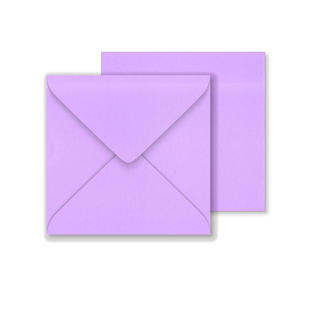 Lustre Print Square Envelopes - Pearlised Tea Rose