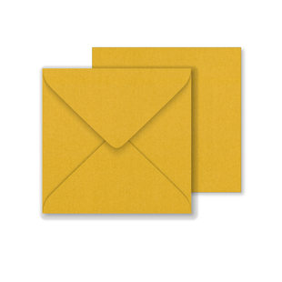 Lustre Print Square Envelopes - Pearlised Tenne