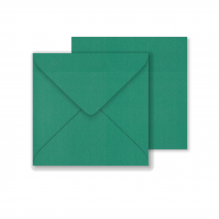 Lustre Print Square Envelopes - Pearlised Xmas Green