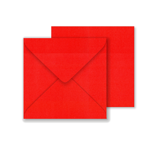 Lustre Print Square Envelopes - Pearlised Xmas Red