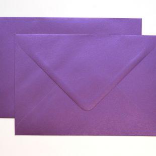 Lustre Print Royal C6 Envelopes - Pearlised Boysenberry
