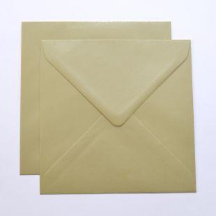 Lustre Print Silver Square Envelopes - Pearlised Amarillo