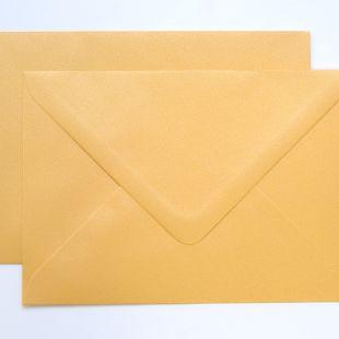 Lustre Print Silver C6 Envelopes - Pearlised Amber