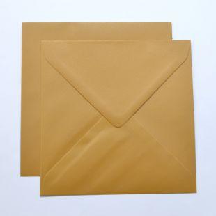 Lustre Print Silver Square Envelopes - Pearlised Amber