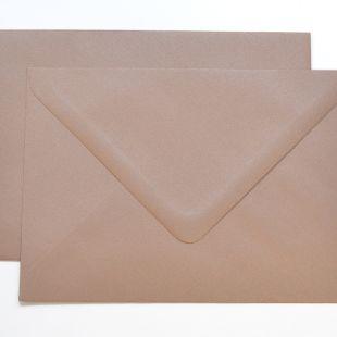 Lustre Print Silver C6 Envelopes - Pearlised Bisque