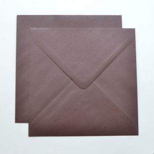 Lustre Print Silver Square Envelopes - Pearlised Bon Bon