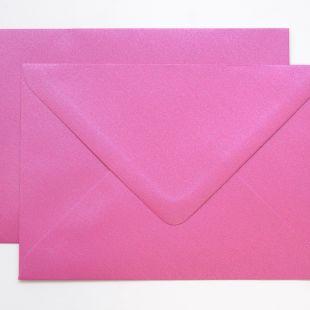 Lustre Print Silver C6 Envelopes - Pearlised Brilliant Rose