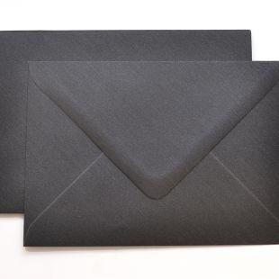 Lustre Print Silver C6 Envelopes - Pearlised Charcoal