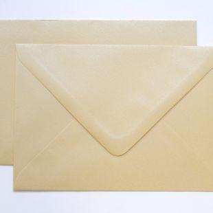Lustre Print Silver C6 Envelopes - Pearlised Cream