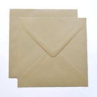 Lustre Print Silver Square Envelopes - Pearlised Cream