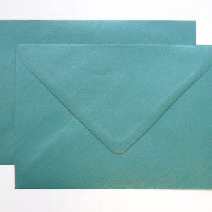 Lustre Print Silver C6 Envelopes - Pearlised Forest Green