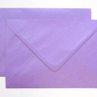 Lustre Print Silver C6 Envelopes - Pearlised Periwinkle