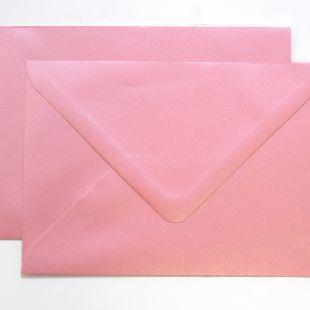 Lustre Print Silver C6 Envelopes - Pearlised Persian Pink