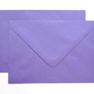 Lustre Print Silver C6 Envelopes - Pearlised Plum
