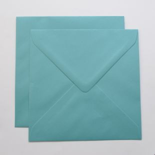 Lustre Print Silver Square Envelopes - Pearlised Sea Blue