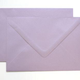 Lustre Print Silver C6 Envelopes - Pearlised Tea Rose