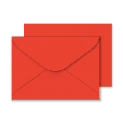 Luxury C5 Envelopes Poppy Red 01