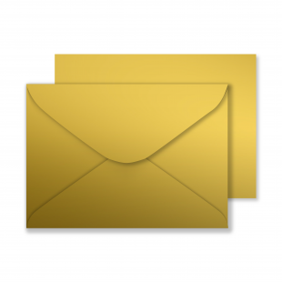 Luxury C5 Envelopes - Metallic Gold