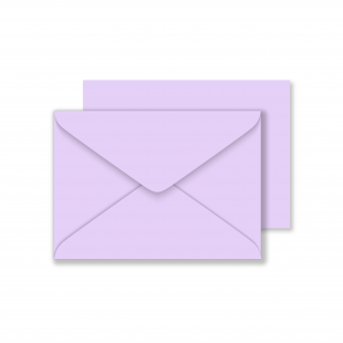 Luxury C6 Envelopes - Lavender