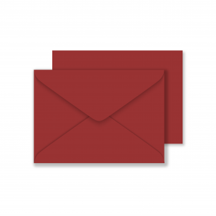 Luxury C6 Envelopes - Ruby Red