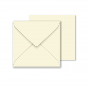 Luxury Square Envelopes - Ivory- 146mm x 146mm