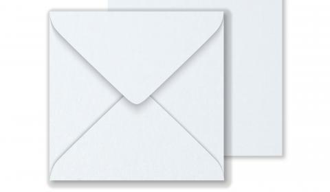 Luxury Square Envelopes - Pearlised Ultra White, 146mm x 146mm