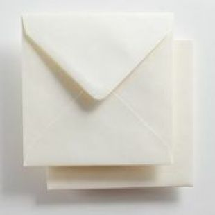 Luxury Square Envelopes - Pearlised Natural White
