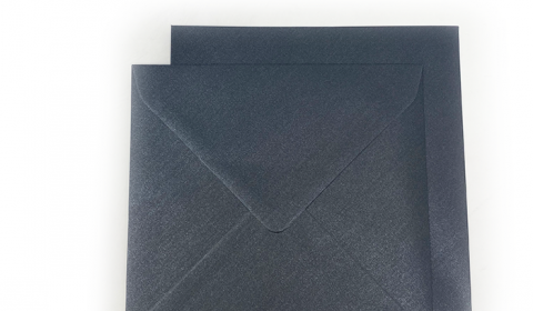 Square Pearlised Charcoal Black Envelopes (155mm x 1555mm)