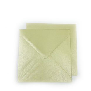 Square Pearlised Grape Green (Amarillo) Envelopes (155mm x 155mm)