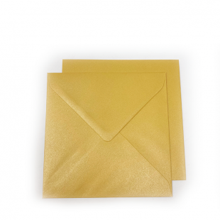 Square Pearlised Mustard Gold (Amber) Envelopes