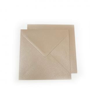Square Pearlised Light Brown (Bisque) Envelopes