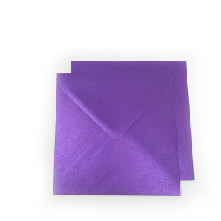 Square Pearlised Royal Purple (Boysenberry) Envelopes