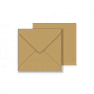 Essentials Square Fleck Kraft Envelopes- 130mm x 130mm 100% Recycled​
