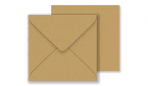 Essentials Square Fleck Kraft Envelopes- 130mm x 130mm 100% Recycled