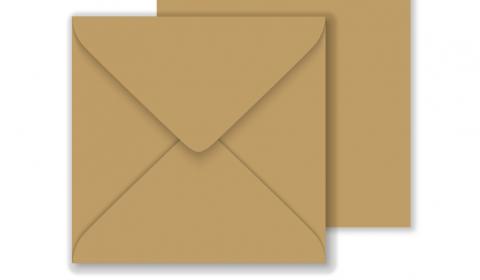 Essentials Square Fleck Kraft Envelopes- 155mm x 155mm 100% Recycled