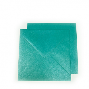 Square pearlised Forest Green Envelopes (155mm x 155mm)