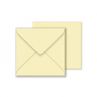 Luxury Square Envelopes - Rich Cream - 146mm x 146mm