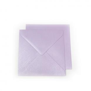 Square Pearlised Lilac (Tea Rose) Envelopes 100gsm (155mm x 155mm)