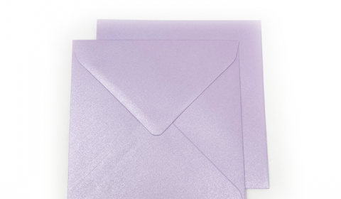 Square Pearlised Lilac (Tea Rose) Envelopes 100gsm (155mm x 155mm)