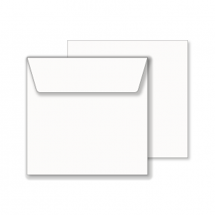Essentials White Wallet Square Envelope- 165mm x 165mm